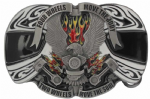 Four Wheels Move the Body - Two Wheels Move the Soul Belt Buckle. Code JM1